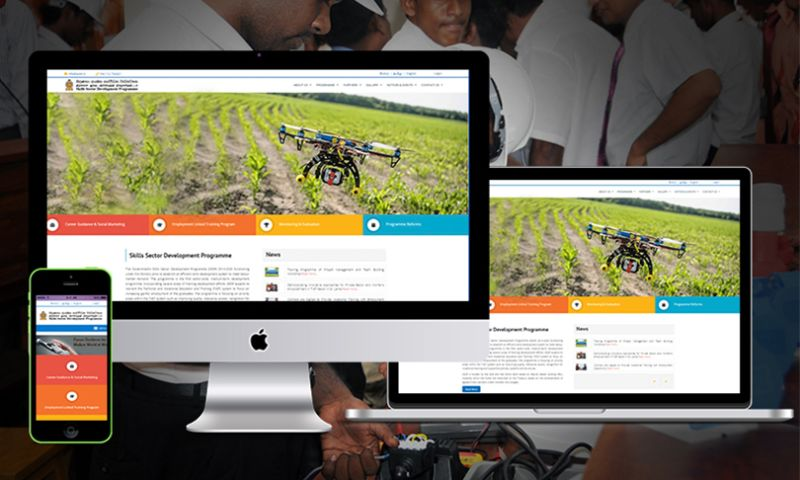Cyber Concepts - Tri Lingual Web Portal for ADB Funded Skills Development Program