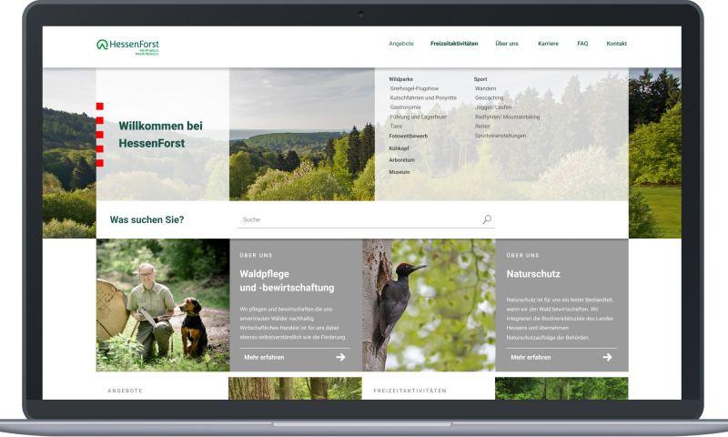 Mermaid Studios GmbH - Website Relaunch for HessenForst
