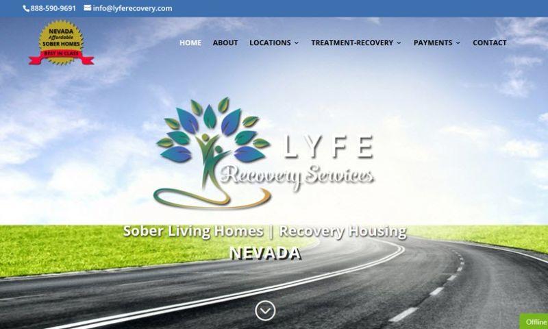 Addiction Web Marketing Pros - LYFE Recovery (Design & SEO/SEM)