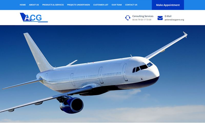 Cyber Concepts - Custom WordPress Web Site Development for Airline Consulting Group . UK