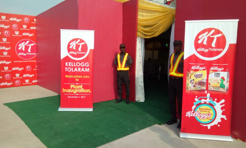Tequila Nigeria Limited - KELLOGG'S TOLARAM FACTORY OPENING