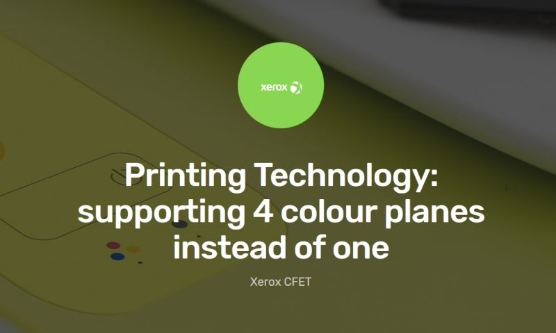 Ketek - Printing Technology: supporting 4 colour planes instead of one