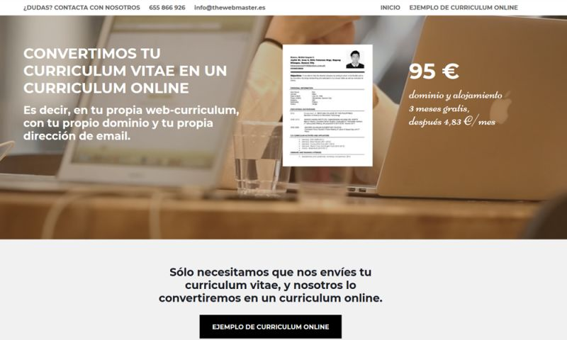 The Webmaster Co. de Barcelona - curriculum-online.es