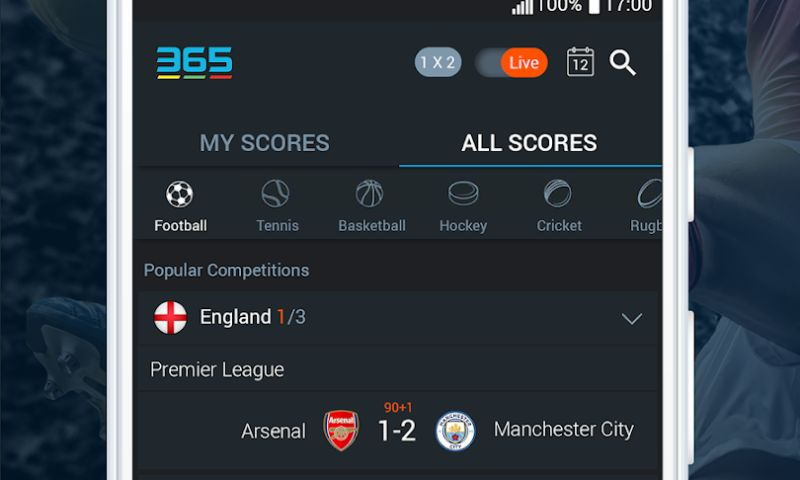 moblers - Scores 365 - Real Time Soccer Scoring app