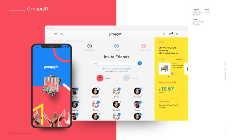 E180 Digital Product Agency - GroupGift