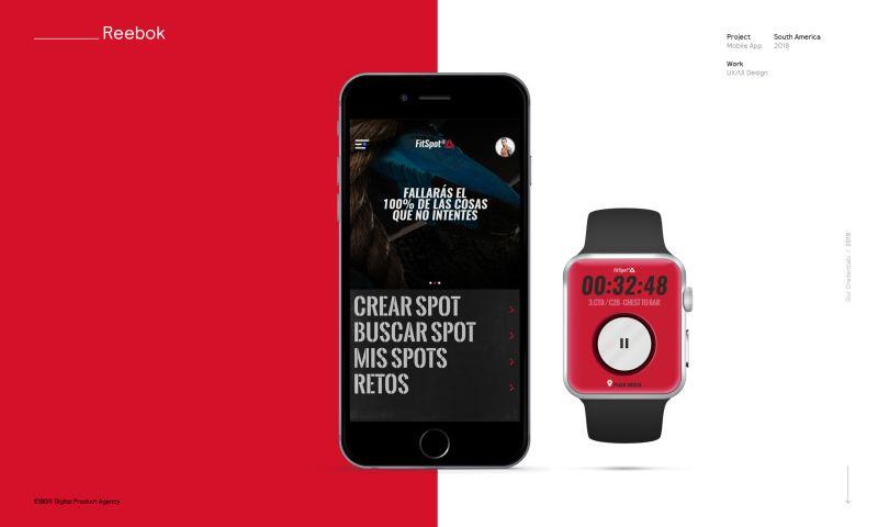 E180 Digital Product Agency - FitSpot - Reebok