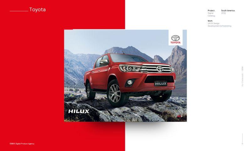 E180 Digital Product Agency - Toyota Hilux