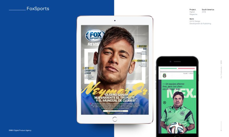 E180 Digital Product Agency - FOX Sports Magazine