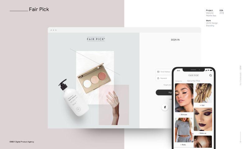 E180 Digital Product Agency - Fair Pick