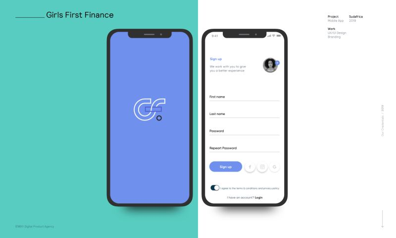 E180 Digital Product Agency - Girls First Finance