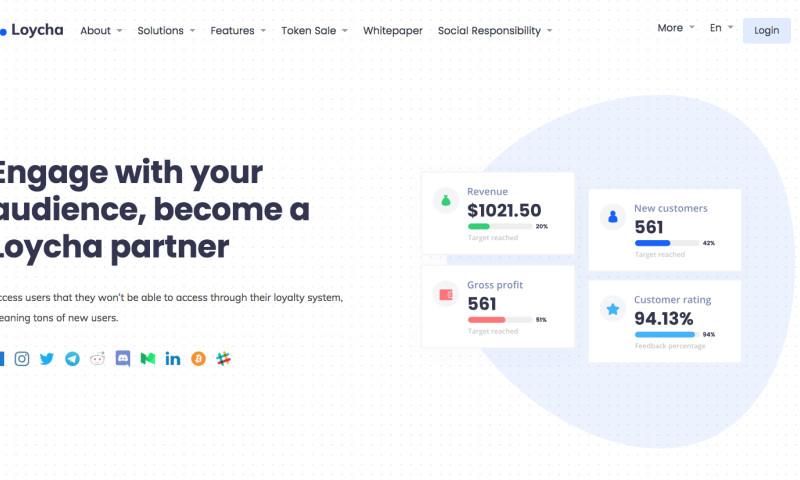 Tomplabs creative agency - Blockchain Coin ( Loycha )