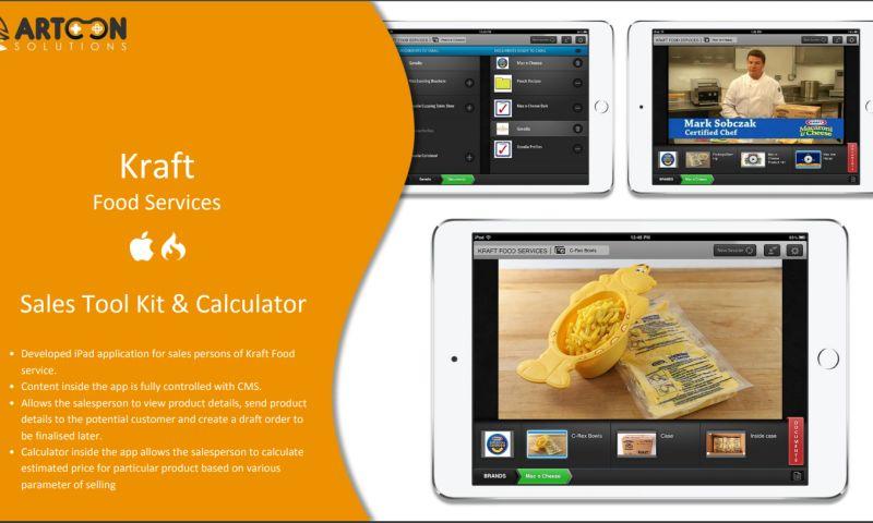 Artoon Solutions - Kraft Food App