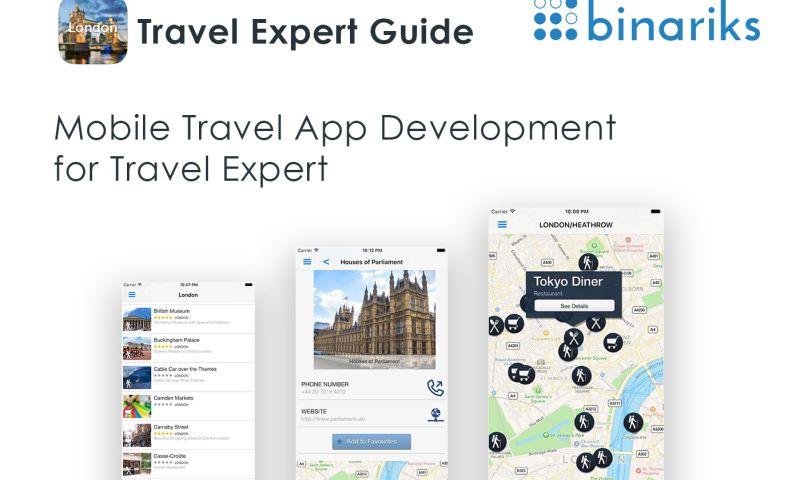 Binariks - Mobile Travel App Development for Travel Expert