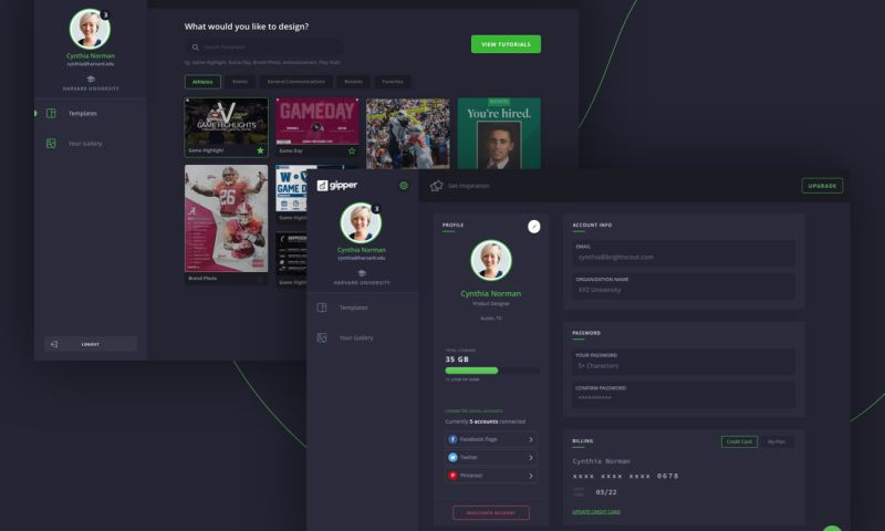 Brightscout - Gipper Dashboard