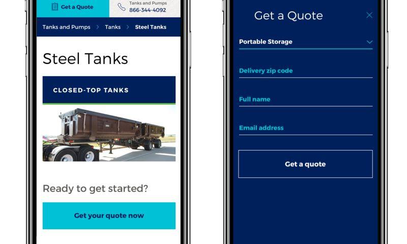 Tallwave - Mobile Mini Website Design