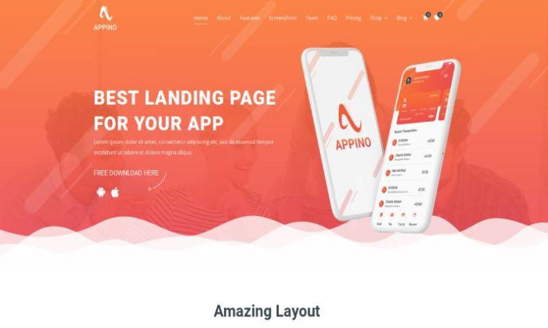 IqonicDesign - Appino - Creative WordPress App Landing Page
