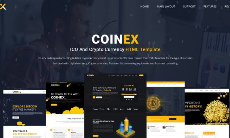 IqonicDesign - COINEX - ICO, Bitcoin And Crypto Currency HTML Template