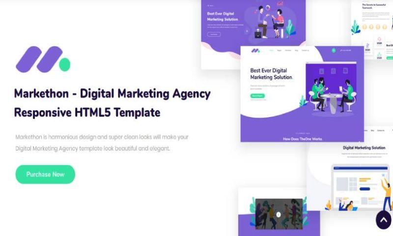 IqonicDesign - Markethon - Digital Marketing Agency Responsive HTML5 Template
