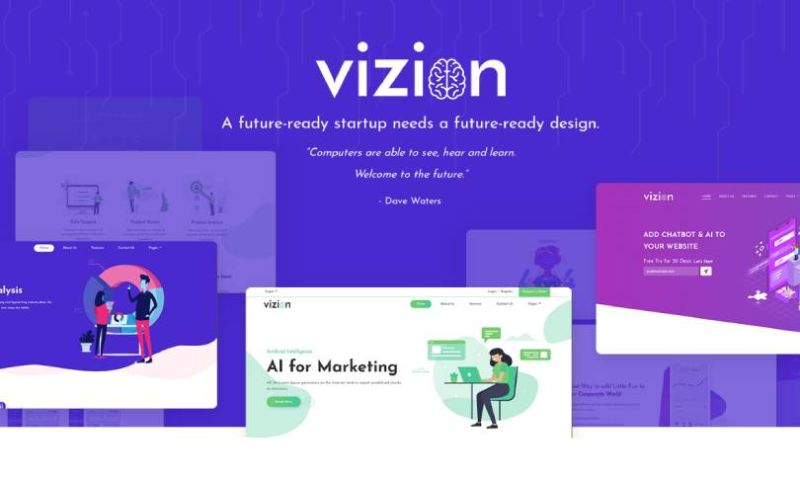 IqonicDesign - Vizion - AI Startups Responsive WordPress Theme