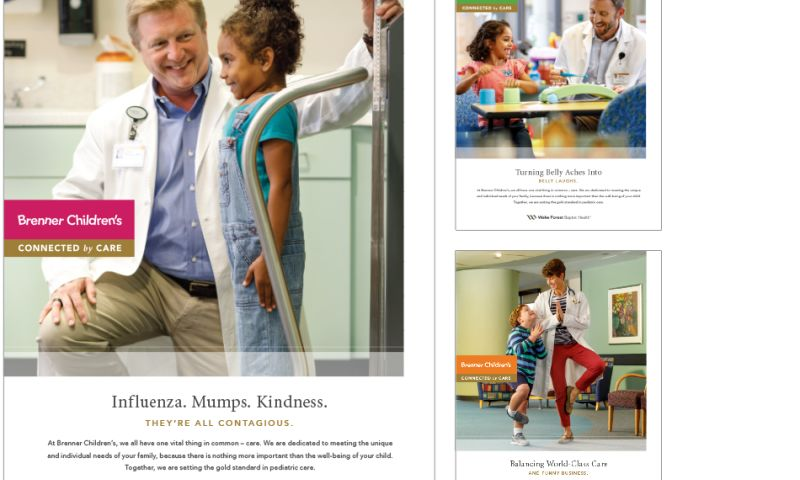 Wildfire - Brenner Children's Hospital Print Campaign
