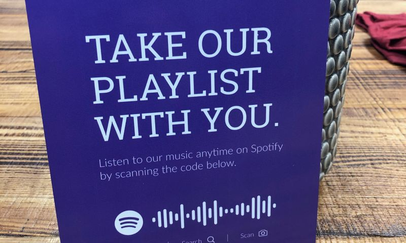 Identity Marketing Group - Spotify Playlist Signs