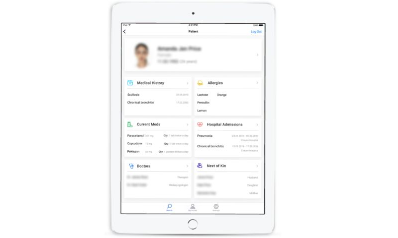 SEVEN - HIPAA compliant HIE Mobile App for the US hospitals