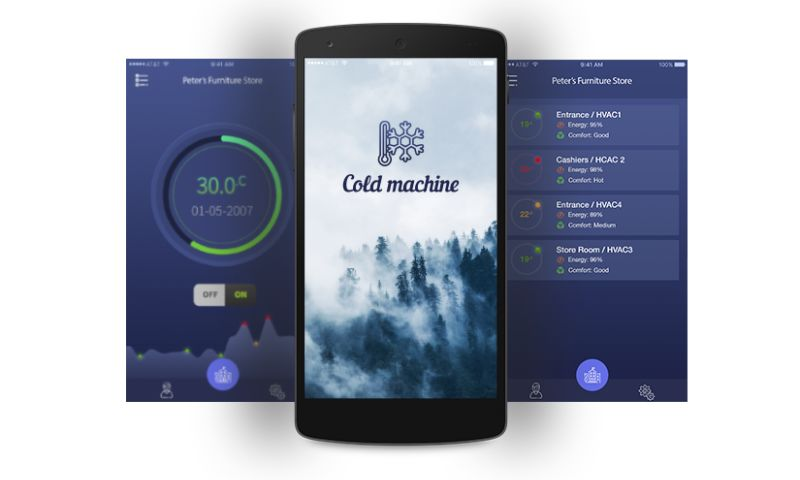 Biz4Solutions LLC - Cold Machine - IoT based App to Monitor Real Time Temperature Inside a Building