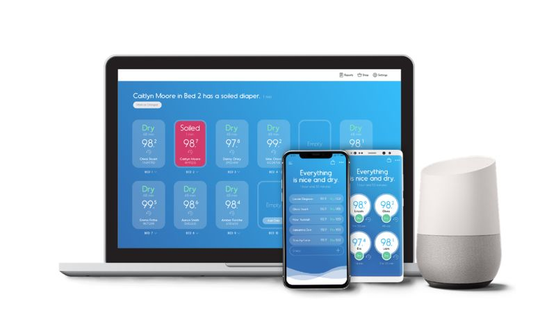 SEVEN - Smart Diapers Mobile and Web Apps compatible with Virtual Assistant