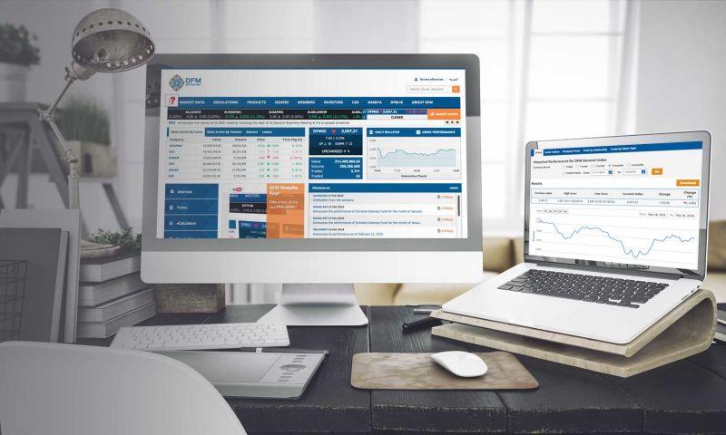 Prototype - Dubai Financial Market Website