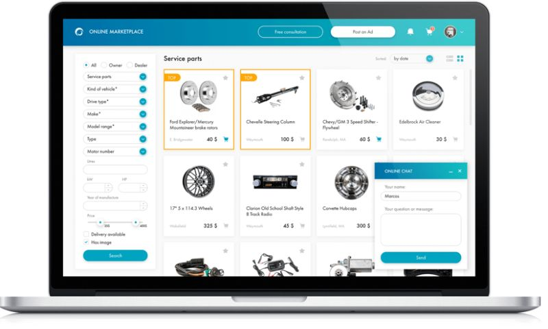 XB Software - Online Marketplace for Cars and Spare Parts Selling