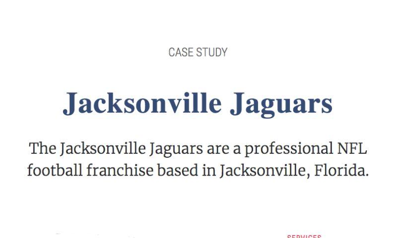 PCR Agency - Jacksonville Jaguars