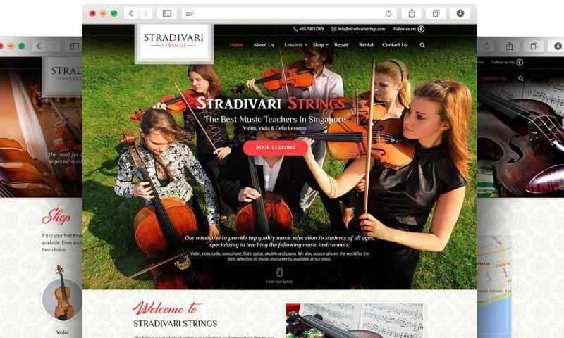 Vision Web Creations - Stradivari Strings
