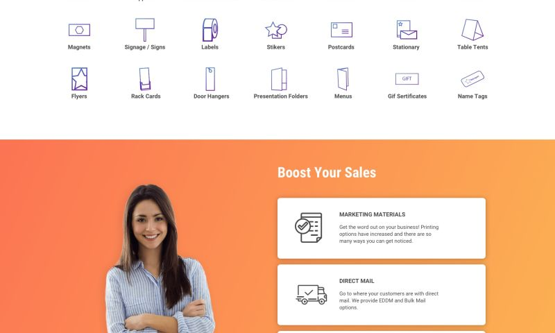 ReVerb - A printing company website design examples