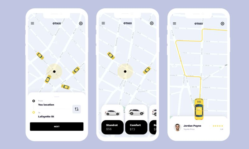 OTAKOYI - iOS Taxi App