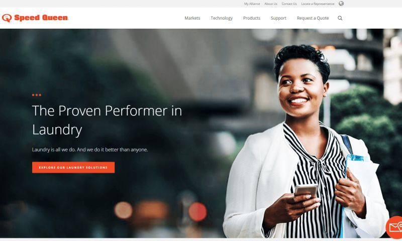 Wakefly, Inc. - Speed Queen Commercial Website Redesign & CMS Implementation