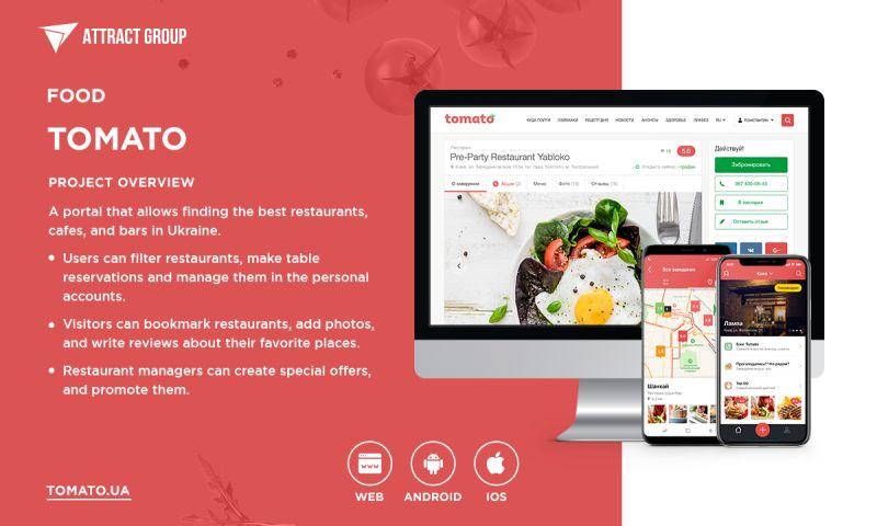 Attract Group - Tomato - Restaurant Portal
