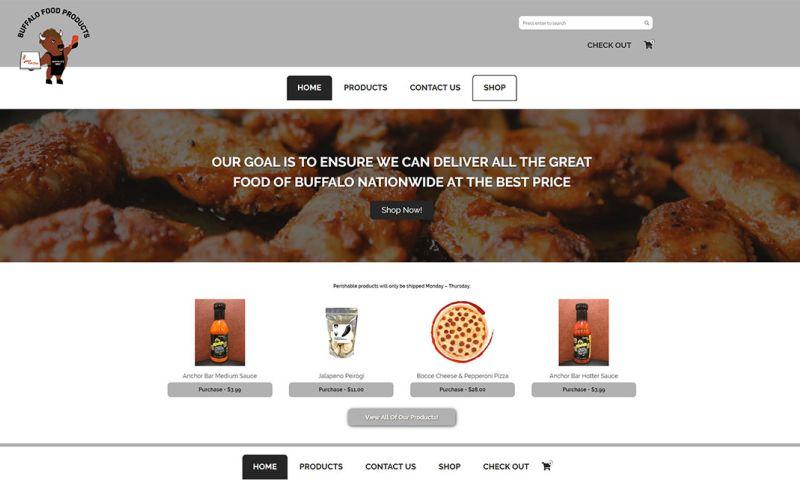 Minerva Web Development - Buffalo Food Products | Ecommerce