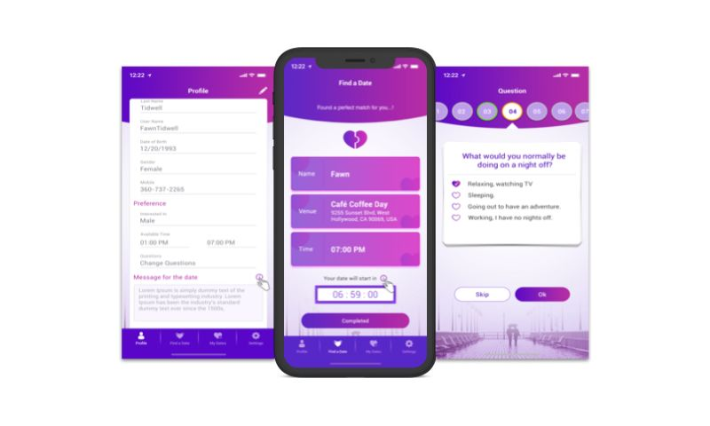 Biz4Solutions LLC - Clicked - 'Blind Dating' App for Users to Find a Perfect Partner with a Matching Personality