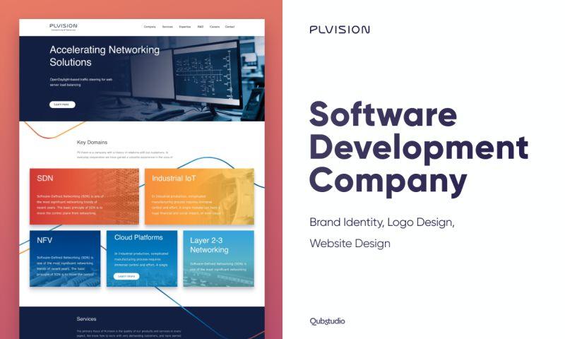 Qubstudio - IT Company Website reDesignPLVISION