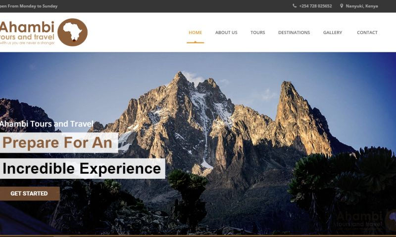 Codesmith Systems Limited - Ahambi Tours & Travel Website