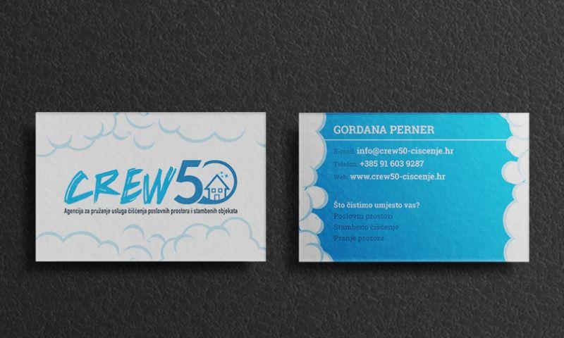 Direct Design - Crew50 business card design