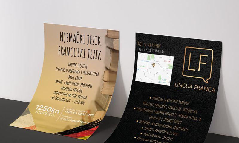 Direct Design - Lingua Franca flyer design