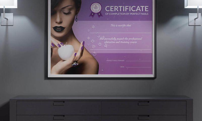 Direct Design - Perfect Nails Hrvatska Certificate design