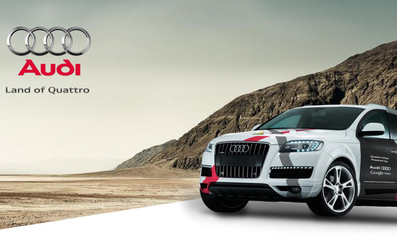 OffRoad Studios - Audi Quattro Google Maps Integrated Automotive Launch Campaign in Middle East