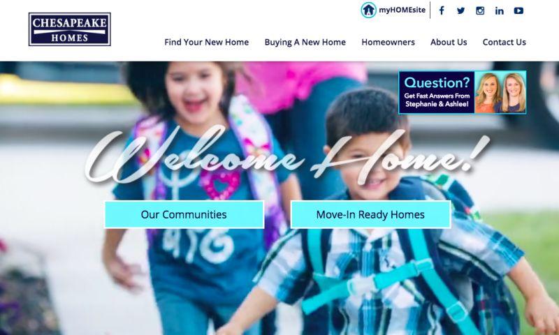 EASTON ADVERTISING - Chesapeake Homes Website