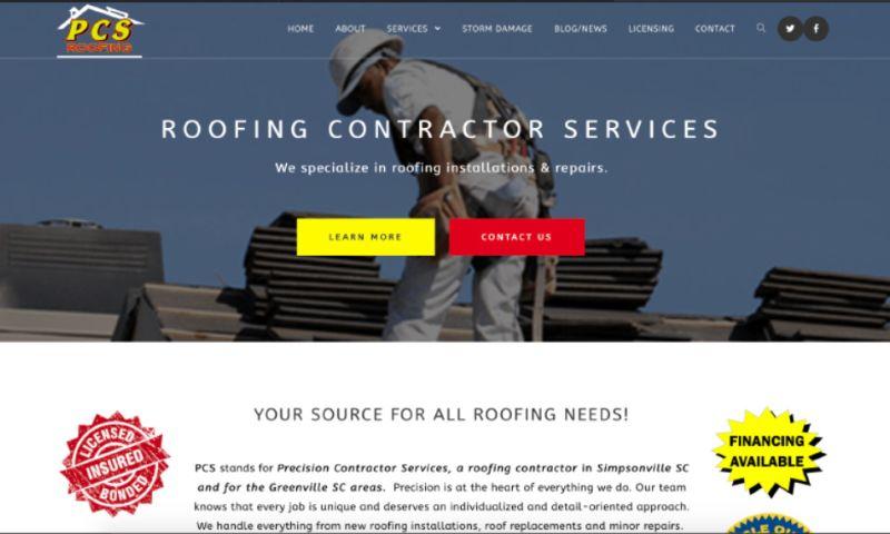 Larry O Miller Web Design - PCS Roofing