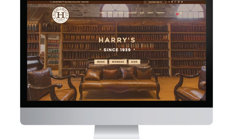 Living Proof Creative - Harry's Boots Website and Digital Marketing