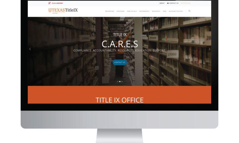 Living Proof Creative - University of Texas Title IX Website