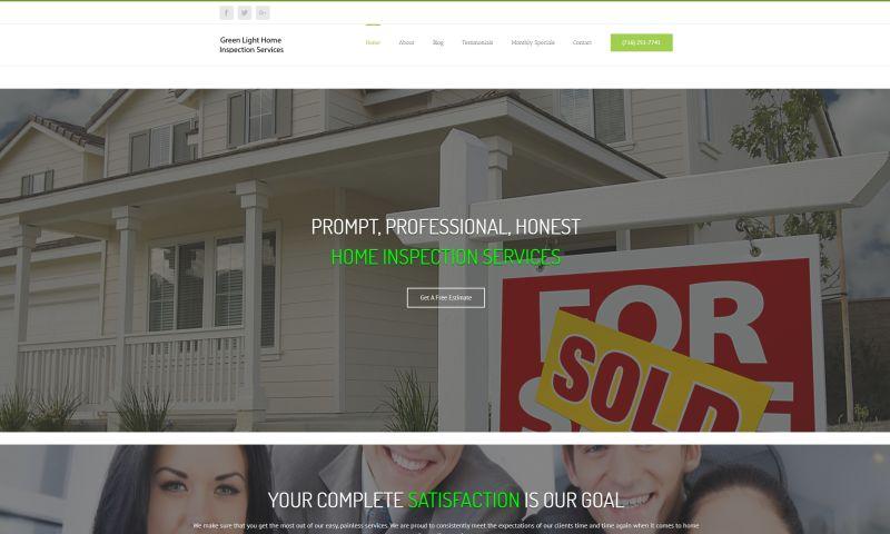 Presto Website Design - Green Light Home Inspections
