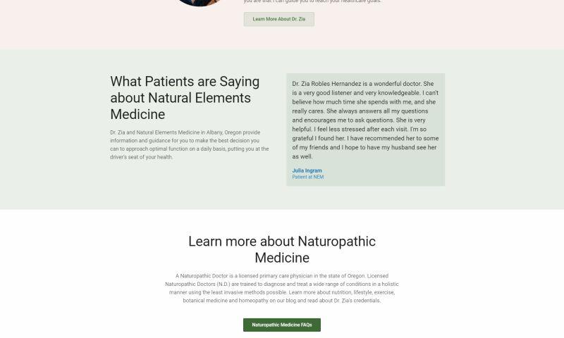 Clark Five Design - NEM Naturopathic Medicine Website & more